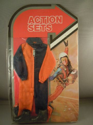 VINTAGE ACTION MAN - KNOCK-OFF ACTION JACK  - SKYDIVER -  CARDED SET